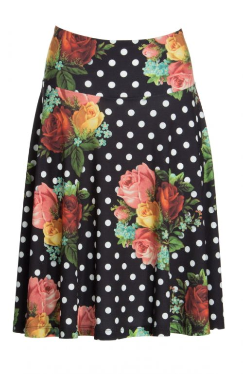 LaLamour Circle Skirt Bouquet - Red Polkadot