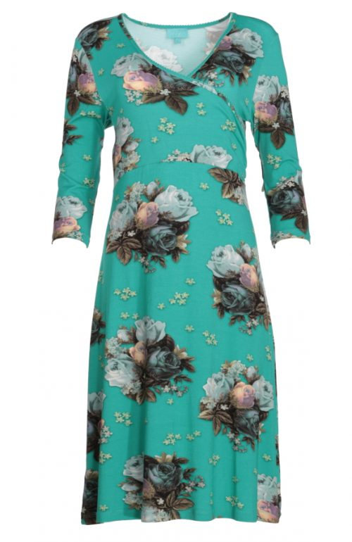 LaLamour Classic Cross Dress Blue Bouquet - Turquoise