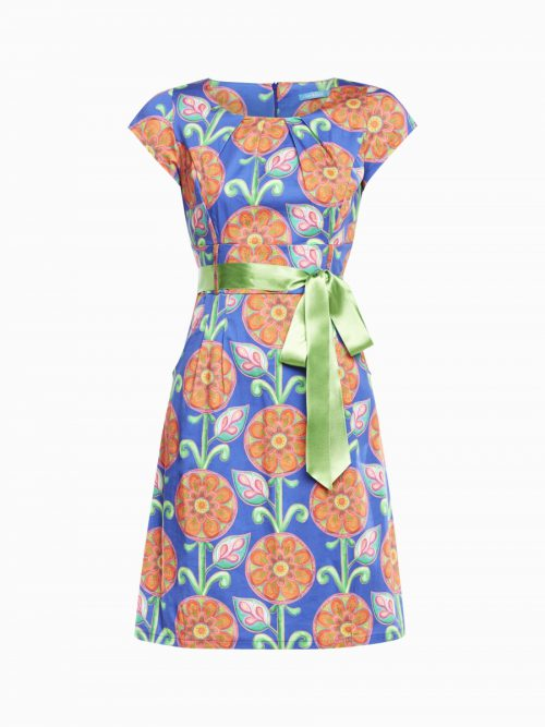 Lien & Giel Fenna Dress Retro - Cobalt