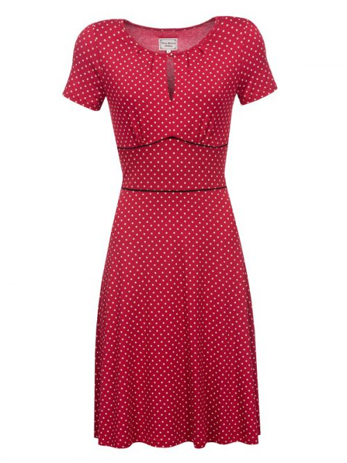 Vive Maria Lucky Star Dress - Red Allover