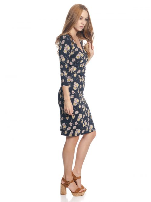 Vive Maria Daisy Girl Wrap Dress - Blue Allover