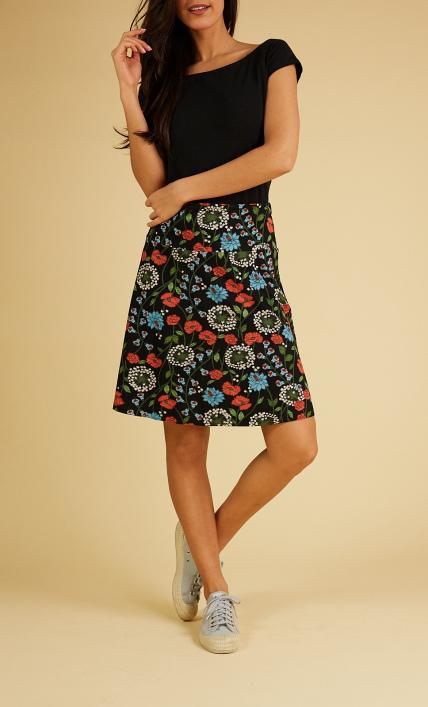 King Louie Border Skirt Dandelion - Black