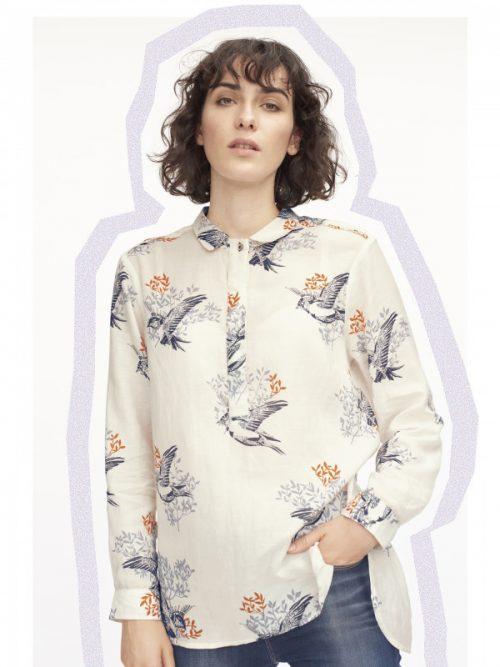 White Stuff Finch Print Shirt