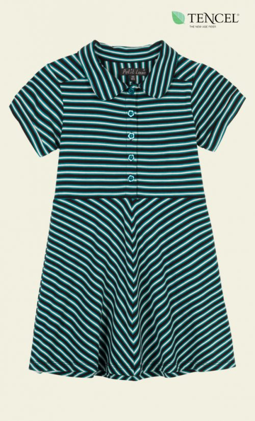 Petit Louie Diner Dress Slim Shady - Waterfall Green