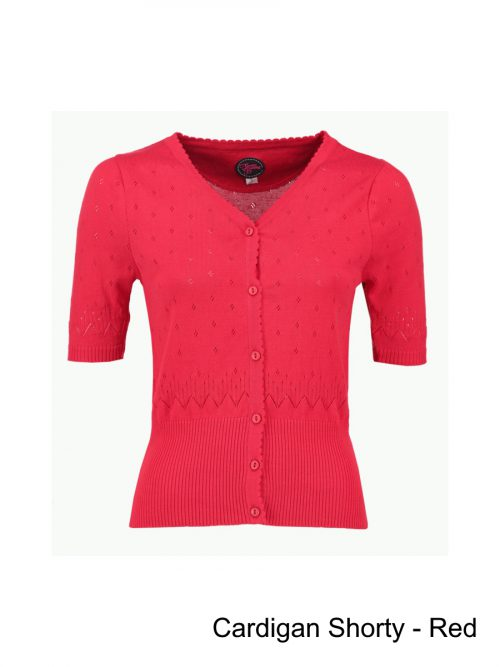 Tante Besty Cardigan Shorty - Formula One Red