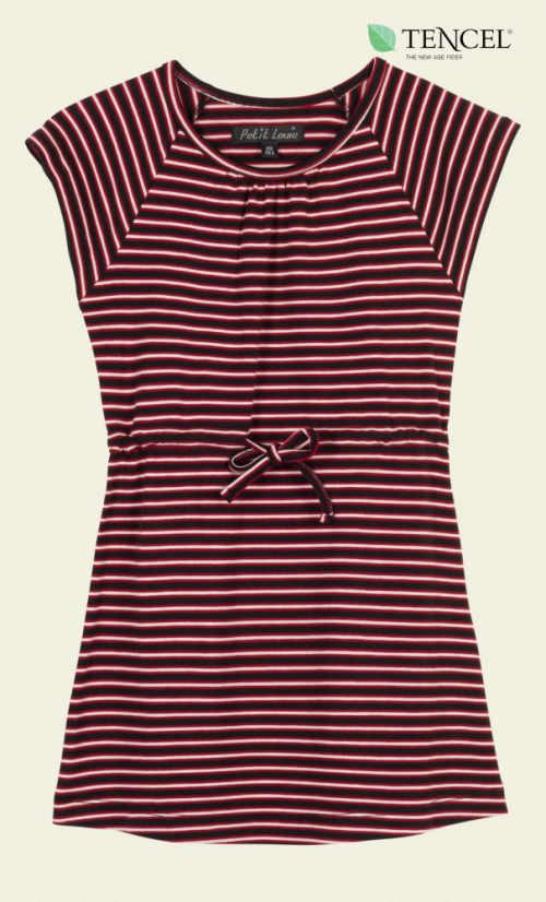 Petit Louie Raglan Dress Slim Shady - Ruby Red