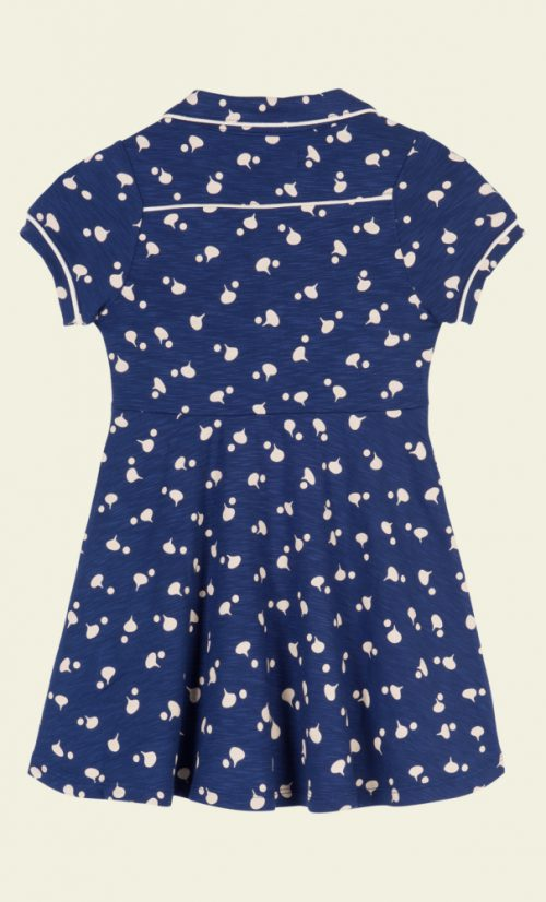 Petit Louie Diner Dress Chatter - Jet Blue