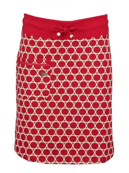 Tante Betsy Skirt Zipper Circles - Red