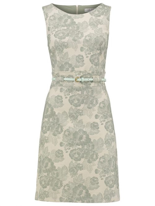 Le Pep Dress Ellen - Offwhite Laurel Green