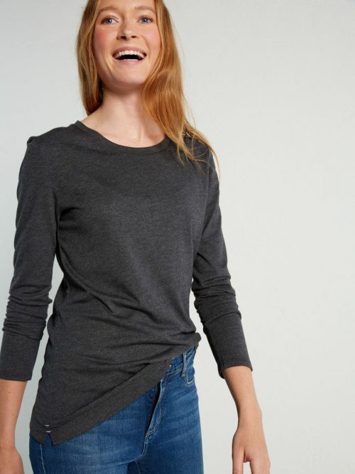 White Stuff Long Sleeve Brushed Layer Jersey Tee