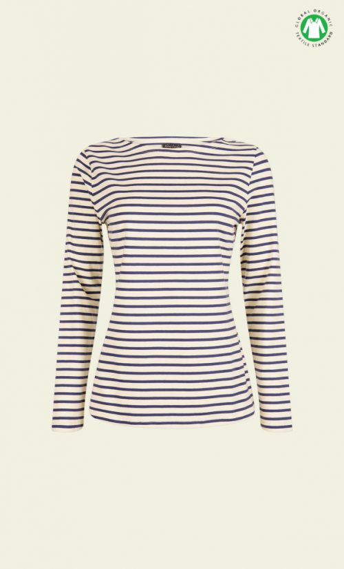 King Louie Paulette Top Breton Stripe - Cream