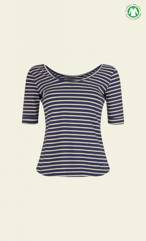 King Louie Ballerina Top Breton Stripe - Nuit Blue