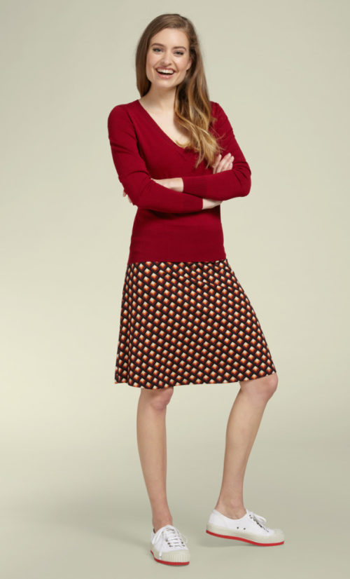 King Louie Border Skirt Oddity - True Red