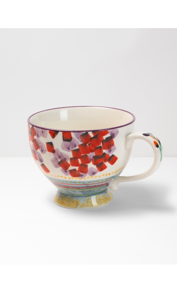 White Stuff Berry Splash Decorative Mug