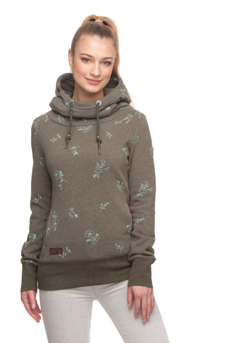 Ragwear Yoda Flowers Sweat Shirt - Olive