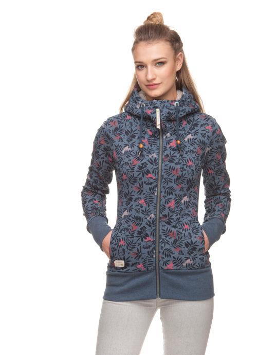 Ragwear Beater Zip Organic Sweatshirt - Blue