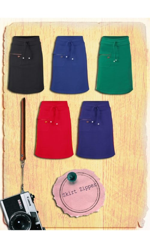 Tante Betsy Skirt Zipper - Black