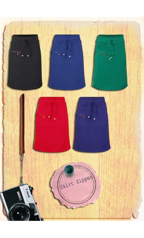 Tante Betsy Skirt Zipper - Black