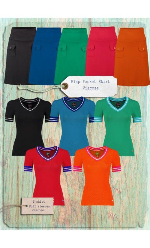 Tante Betsy Tshirt Puff Sleeves - Alle Kleuren