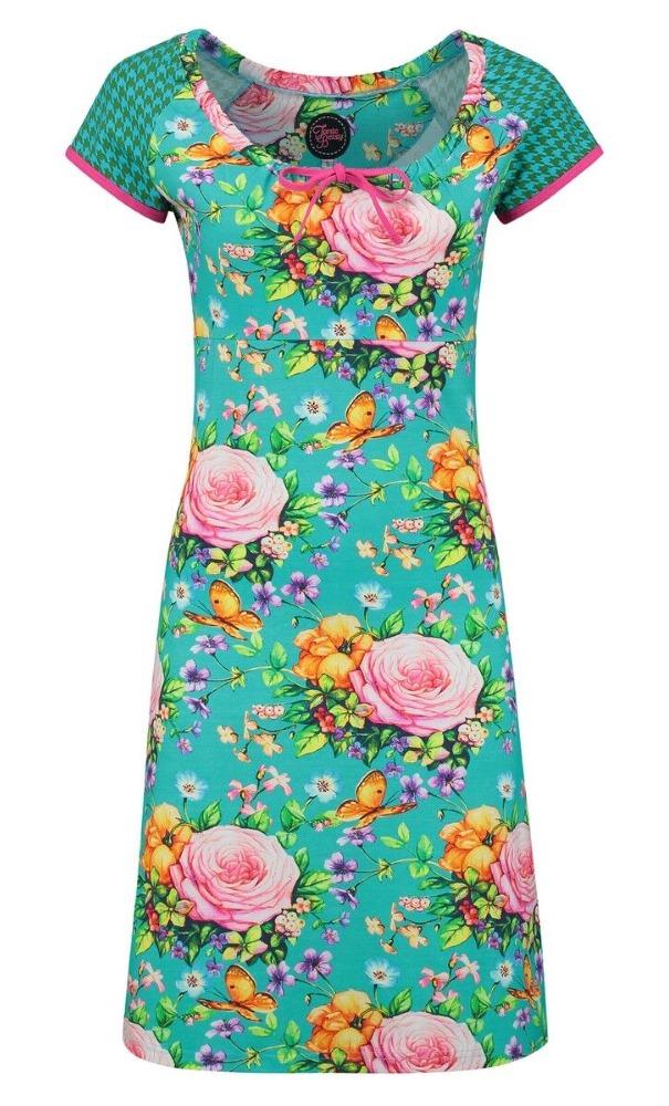 Tante Betsy Carmen Dress Butterfly Roses