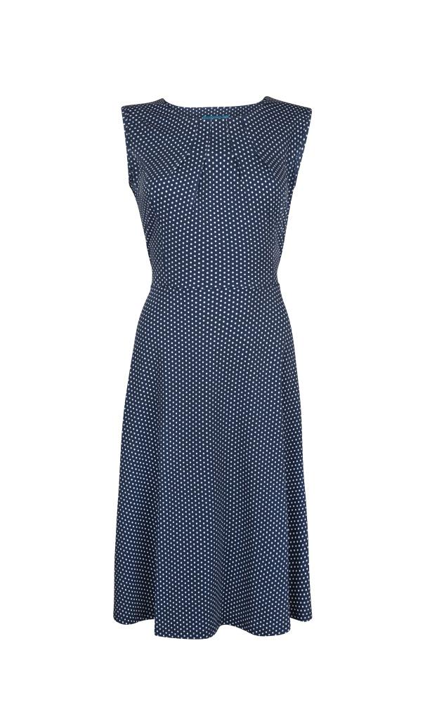 Lien & Giel Dee Dress - Dot Marine