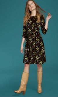 King Louie Betty Dress Wonderland - Black