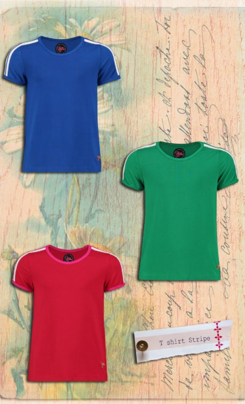 Tante Betsy T Shirt Stripe Girl Green