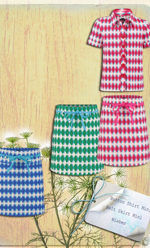 Tante Betsy Girl Skirt Mini Wieber Blue