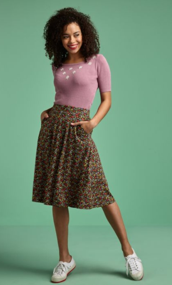 King Louie Sofia Midi Skirt Ditsy