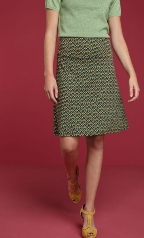 King Louie Border Skirt Vongole
