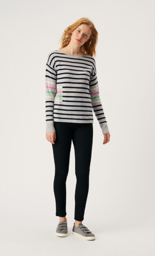 White Stuff Willow Stripe Jumper