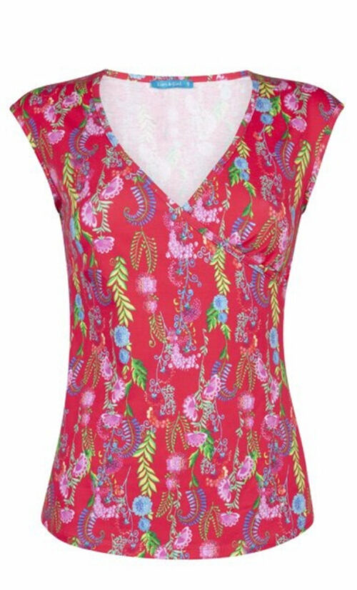 Lien & Giel Nantes Top - Wildflower Red