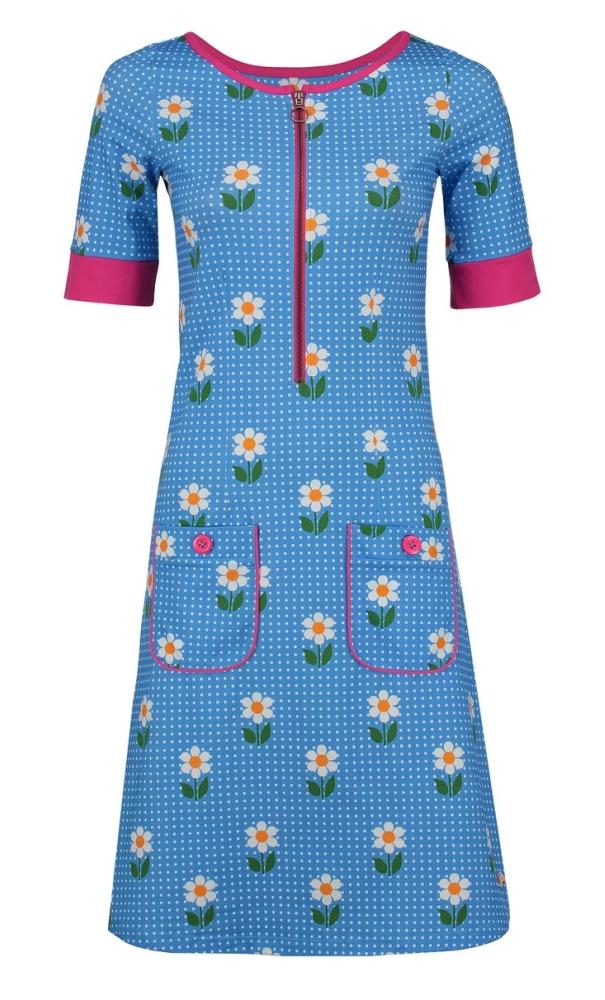 Tante Betsy Dress Nova DAisy Dot - Blue