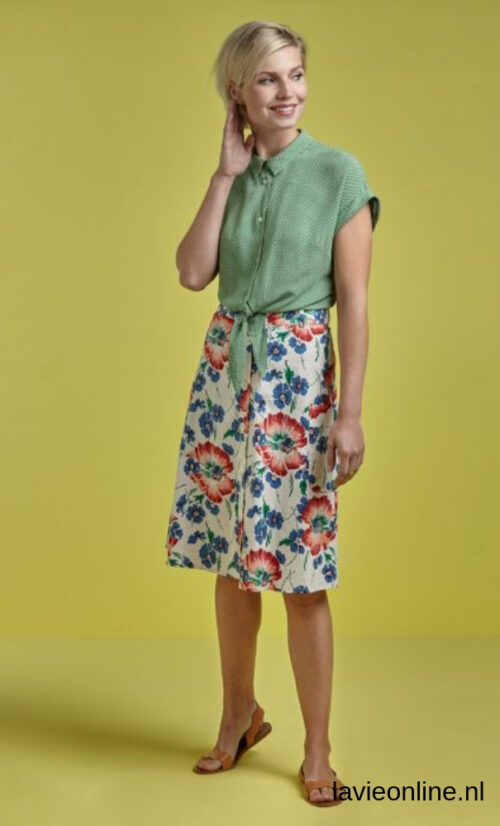 King Louie Fifi Button Skirt Verano