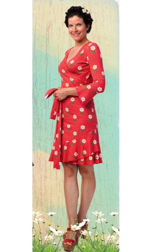 Tante Betsy Ruffle Wrap Dress Daisy Dot