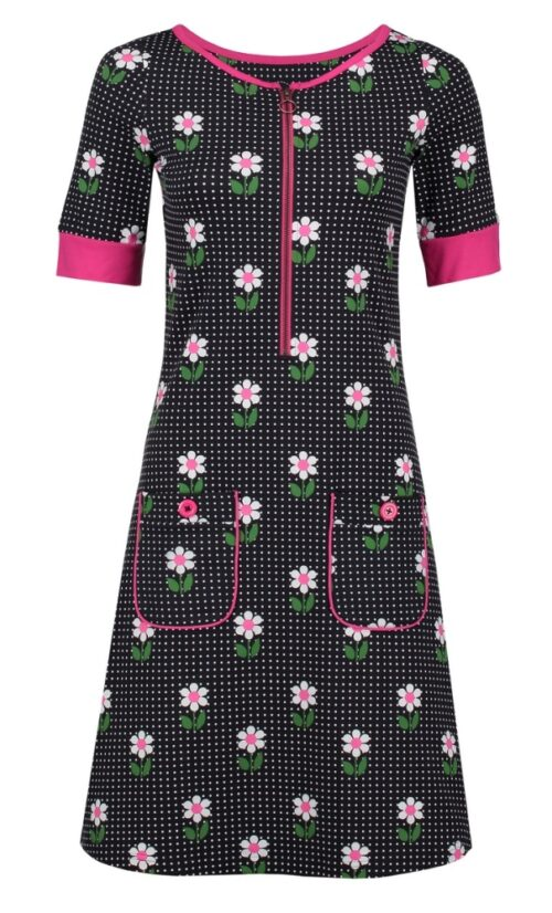Tante Betsy Dress Nova DAisy Dot - Black