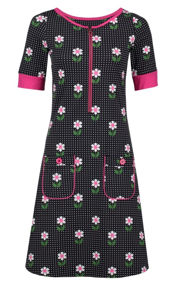 Tante Betsy Dress Nova DAisy Dot - Black