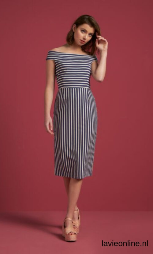 King Louie Iris Dress Breton Stripe