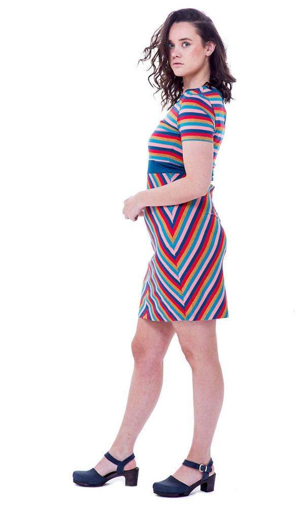Bakery Ladies Dress Stripe