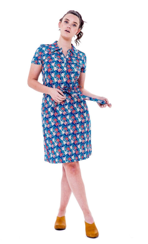 Bakery Ladies Polo Dress Mini Flower