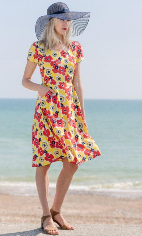 Pretty Vacant Gloria Dress Poppy
