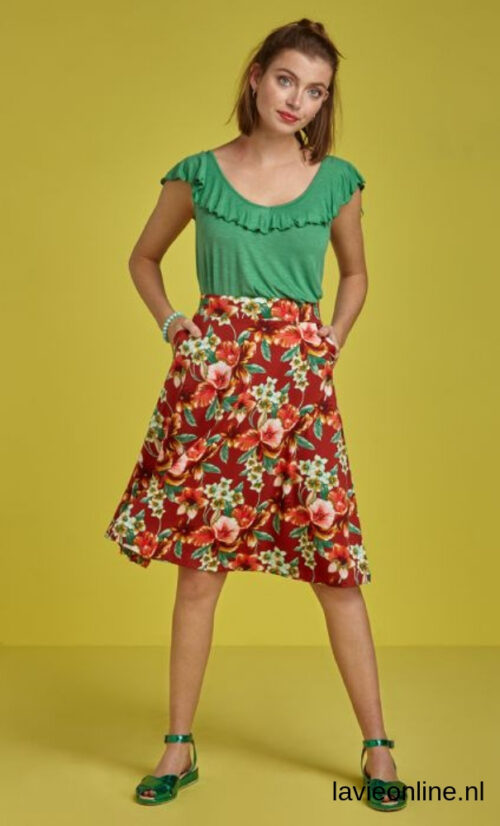 King Louie Sofia Midi Skirt Magnolia