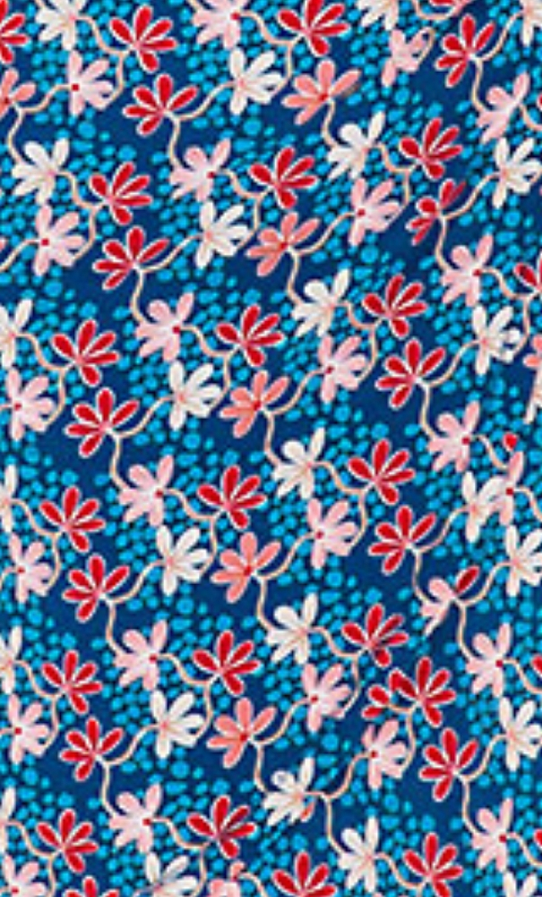 Bakery Ladies V Neck Shirt Overlap Mini Flower