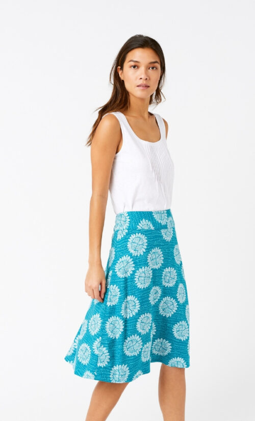 White Stuff Archive Reversible Skirt Jade Green