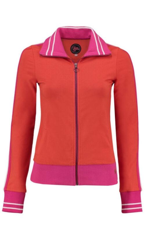 Tante Betsy Sporty Jacket Loopknit - Orange n Pink