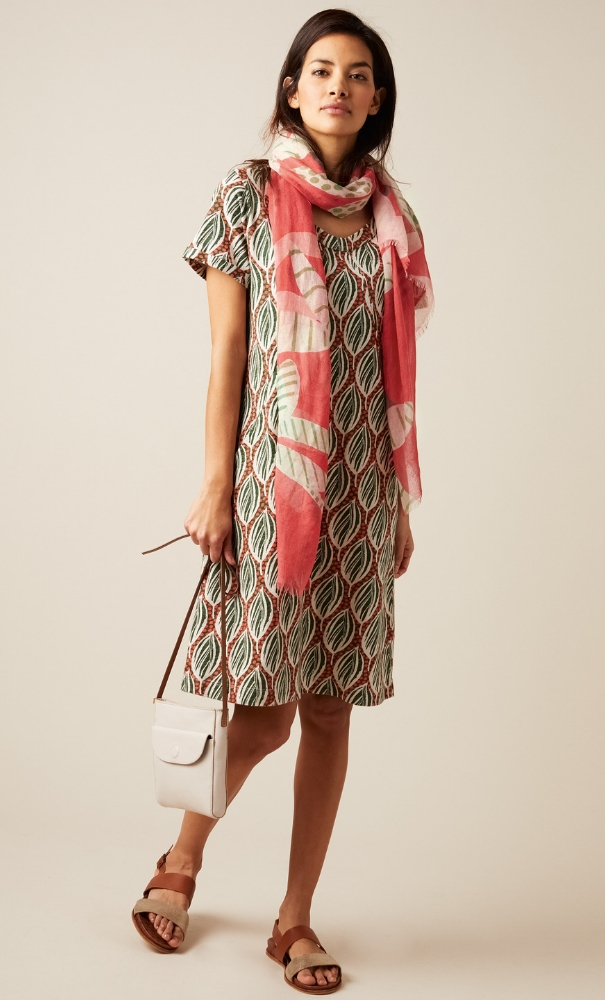 White Stuff Sorrel Dress Flamingo