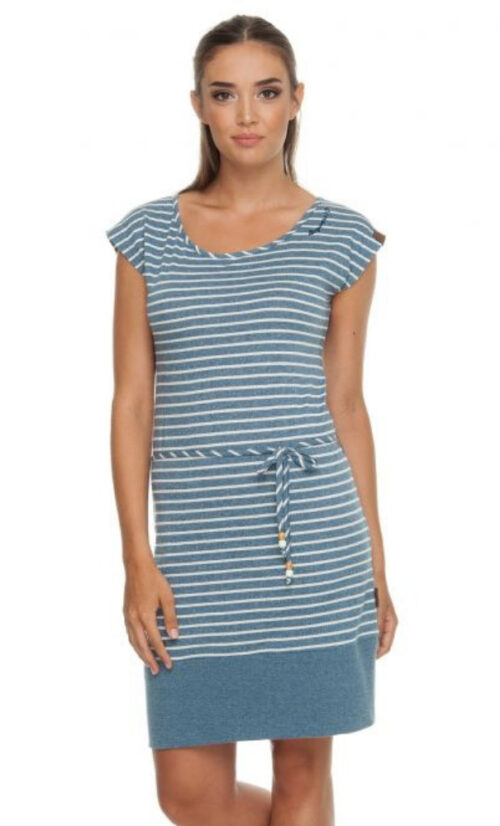 Ragwear Soho Stripes Dress - Blue