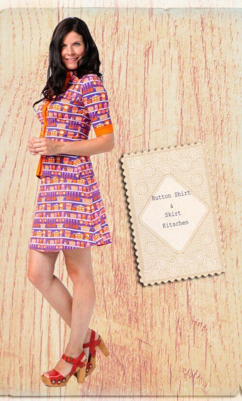 Tante Betsy Button Skirt Kitschen
