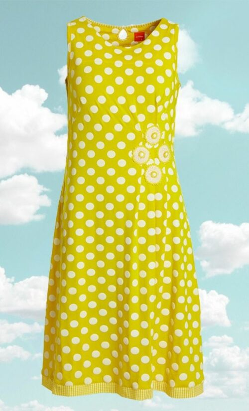 DuMilde Poula Yellow Daisy Dress