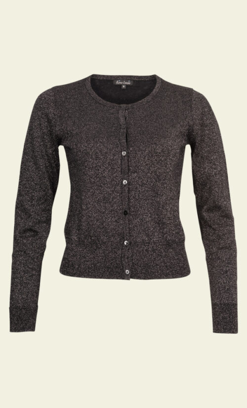 King Louie Cardi Roundneck Lapis - Black